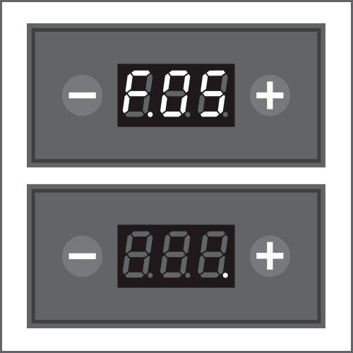 Pour désactiver ou modifi er le délai (max. 2 heures) d'arrêt automatique, entrer dans le menu F.05
